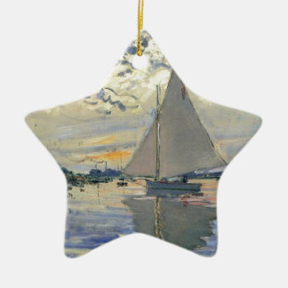 Ornamento De Cerâmica Navigação da água do barco de Monet em