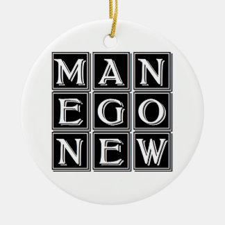 Ornamento De Cerâmica Now new man