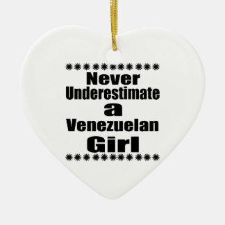 Ornamento De Cerâmica Nunca subestime um namorada venezuelano