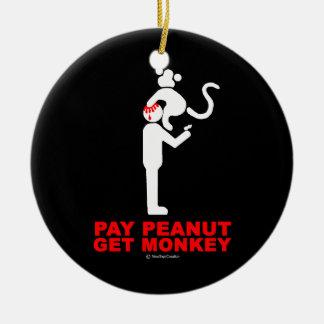 Ornamento De Cerâmica O amendoim do pagamento, obtem o macaco
