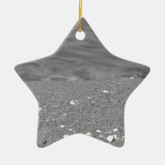 Ornamento De Cerâmica O close up da praia da areia com mar borrou o