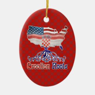 Ornamento De Cerâmica O croata americano enraíza decorações