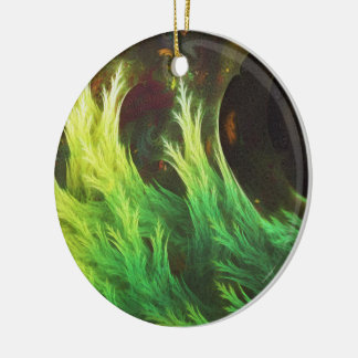 Ornamento De Cerâmica O DeepDream de uma alga de cores desvanecidas da