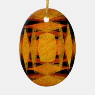 Ornamento De Cerâmica O diamante retro dá forma ao teste padrão