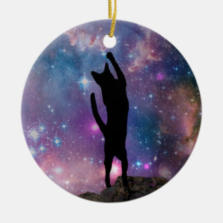 Ornamento De Cerâmica O gato de Yeshua: Céu nocturno de Nazareth