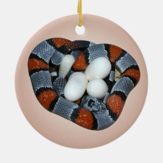 Ornamento De Cerâmica O kingsnake cinza-unido