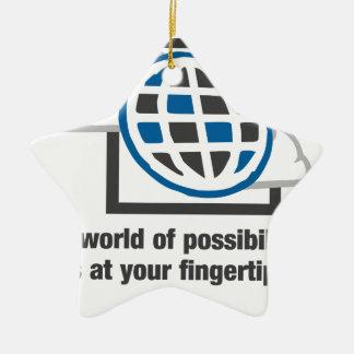 Ornamento De Cerâmica O mundo das possibilidades está em suas pontas do