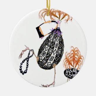 Ornamento De Cerâmica O ovo fabuloso do Opal preto, fernandes tony
