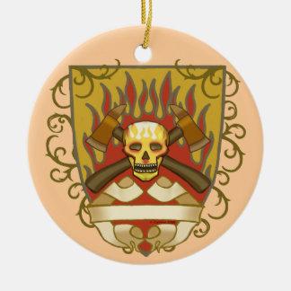 Ornamento De Cerâmica O sapador-bombeiro arde o protetor