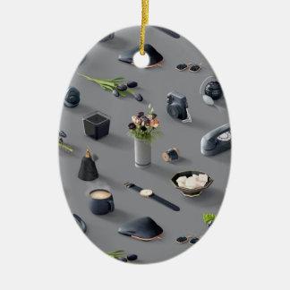 Ornamento De Cerâmica O sonho preto da menina
