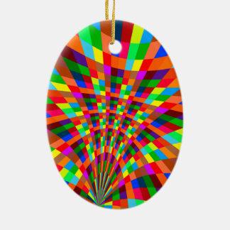 Ornamento De Cerâmica O teste padrão abstrato colorido moderno colore o