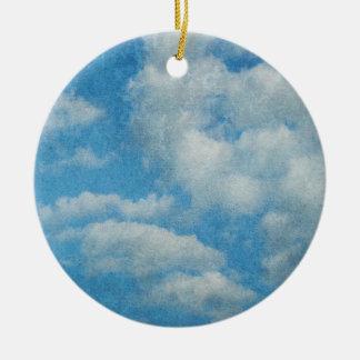 Ornamento De Cerâmica O vintage afligido nubla-se o fundo