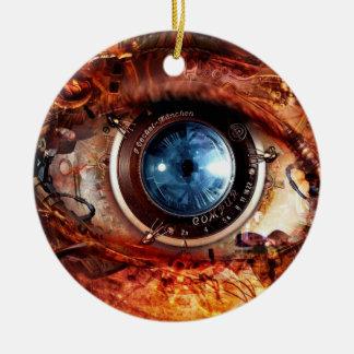 Ornamento De Cerâmica Olho da câmera de Steampunk