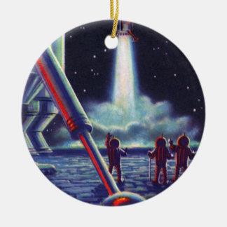 Ornamento De Cerâmica Onda dos aliens da ficção científica do vintage a