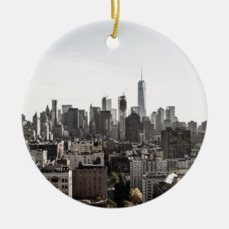 Ornamento De Cerâmica Opinião da paisagem a Nova Iorque