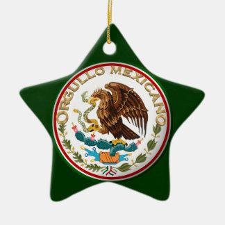Ornamento De Cerâmica Orgullo Mexicano (Eagle da bandeira mexicana)