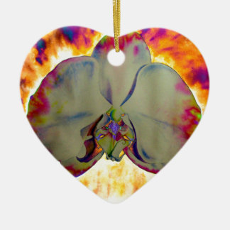 Ornamento De Cerâmica Orquídea do fogo