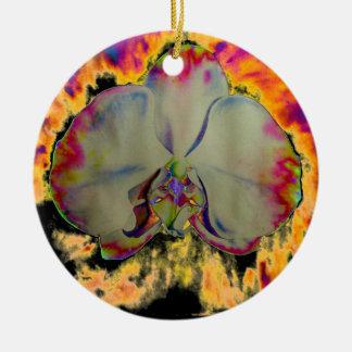 Ornamento De Cerâmica Orquídea do fogo - preto