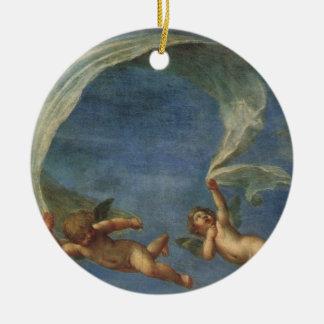 Ornamento De Cerâmica Os anjos detalham de Adonis conduziram por Cupido
