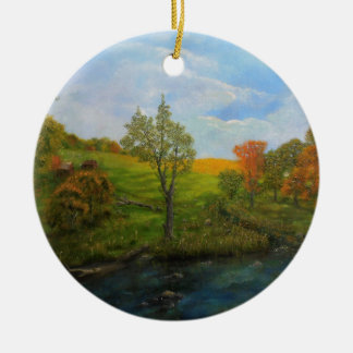 Ornamento De Cerâmica Outono do país