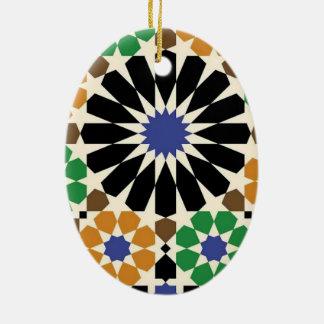Ornamento De Cerâmica padrão com forma geometricas