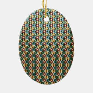 Ornamento De Cerâmica padrão com formas geometricas