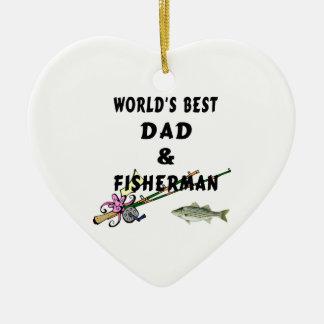 Ornamento De Cerâmica Pai e pescador