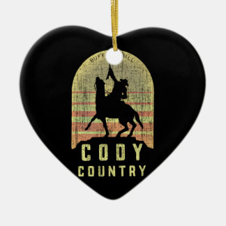Ornamento De Cerâmica País Wyoming de Cody