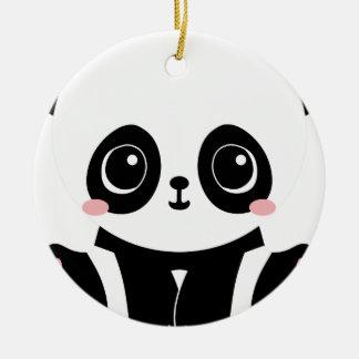 Ornamento De Cerâmica Panda adorável