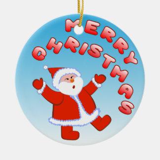 Ornamento De Cerâmica Papai Noel 5