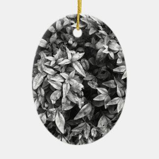 Ornamento De Cerâmica Para floral preto & branco do amor -