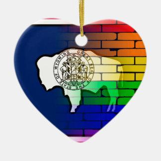 Ornamento De Cerâmica Parede Wyoming do arco-íris