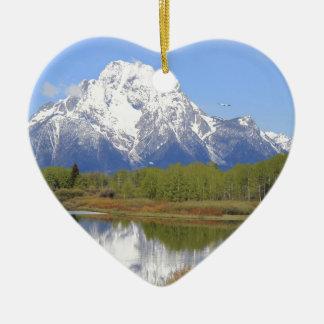Ornamento De Cerâmica Parque nacional grande do Mt. Moran Teton