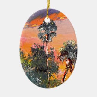 Ornamento De Cerâmica Partes superiores da palmeira - céu do fogo
