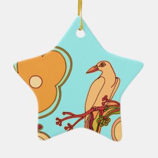 Ornamento De Cerâmica Pássaros lunáticos (alguma cor que você escolher!)