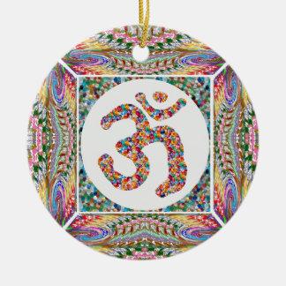 Ornamento De Cerâmica Paz do indiano da ioga da hinduísmo de OmMantra da