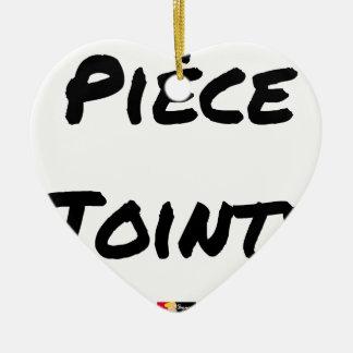 Ornamento De Cerâmica PEÇA EM ANEXO - Jogos de palavras - François