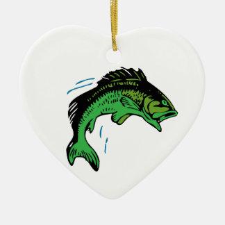 Ornamento De Cerâmica Peixes de salto
