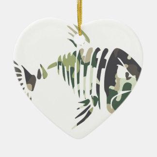 Ornamento De Cerâmica Peixes irritados da camuflagem, para o pescador