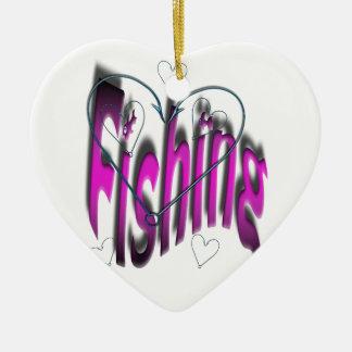Ornamento De Cerâmica pesca do coração