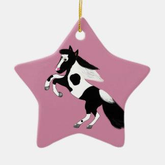 Ornamento De Cerâmica Pinte o cavalo