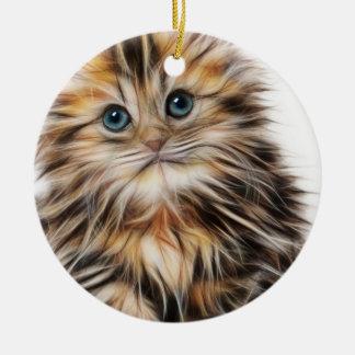 Ornamento De Cerâmica Pintura adorável do gatinho