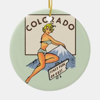 Ornamento De Cerâmica Pinup de Colorado