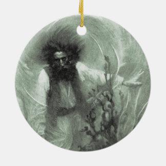 Ornamento De Cerâmica Piratas do vintage, capitão Goldsack por Howard