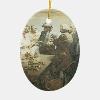 Ornamento De Cerâmica Piratas do vintage, preparando-se para o motim por