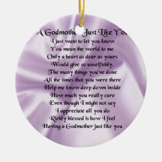 Ornamento De Cerâmica Poema   da madrinha do Lilac
