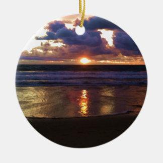 Ornamento De Cerâmica Por do sol de Marina Del Rey
