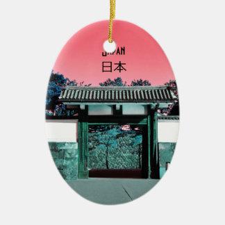 Ornamento De Cerâmica Porta do templo em Tokyo, Japão