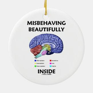 Ornamento De Cerâmica Portar-se mal belamente interior (cérebro