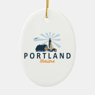 Ornamento De Cerâmica Portland Maine.